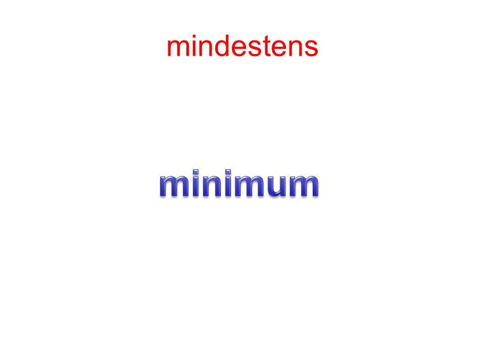 mindestens minimum
