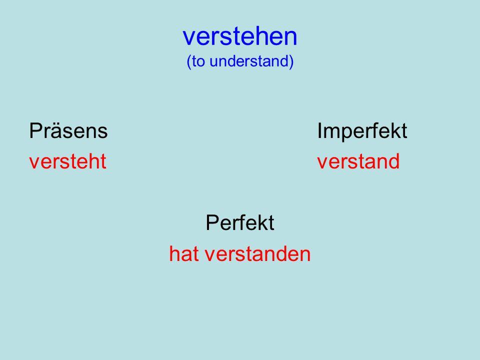 verstehen (to understand)