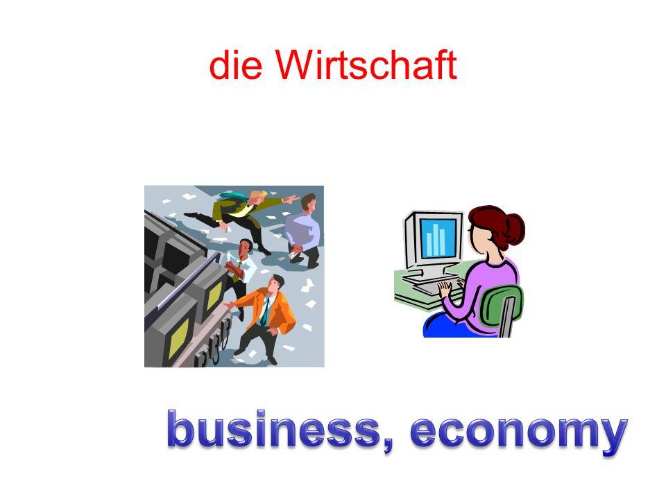 die Wirtschaft business, economy