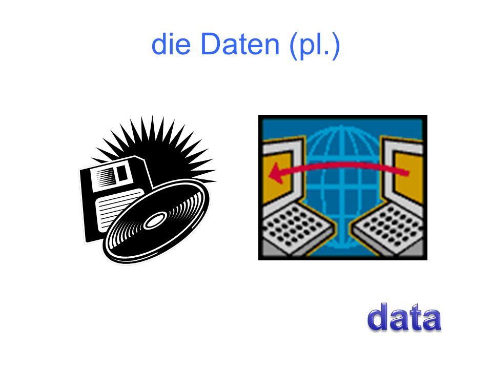 die Daten (pl.) data