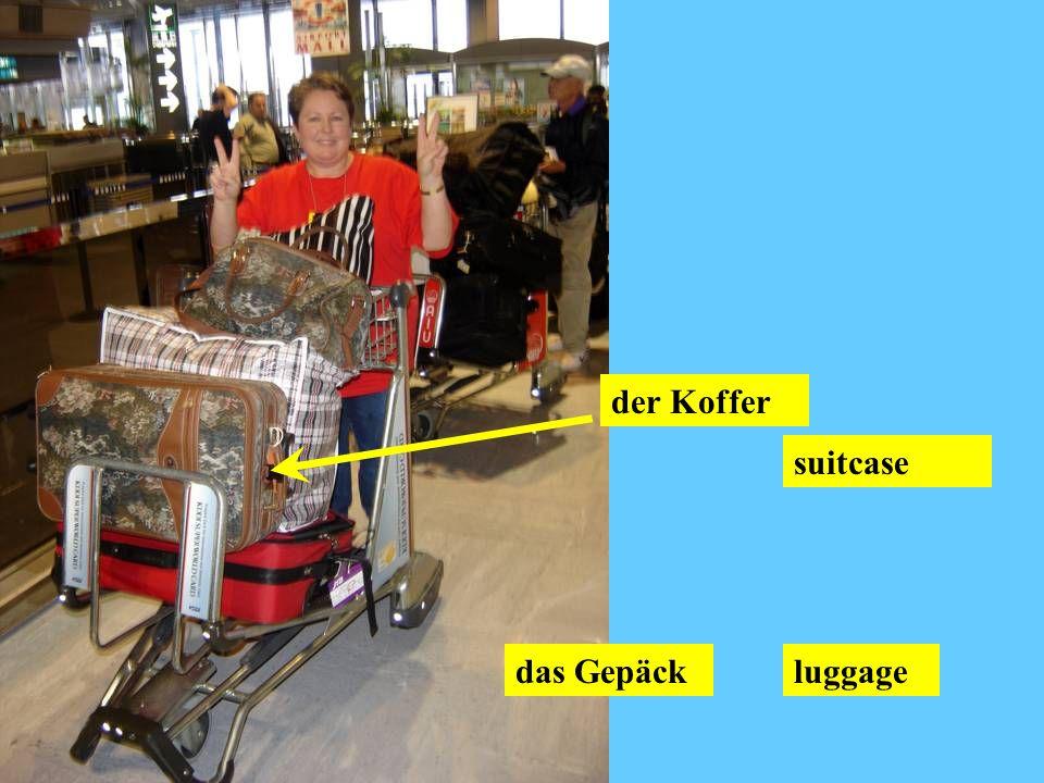 der Koffer suitcase das Gepäck luggage