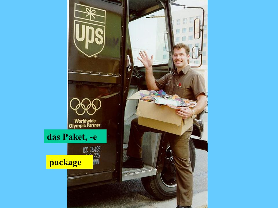das Paket, -e package