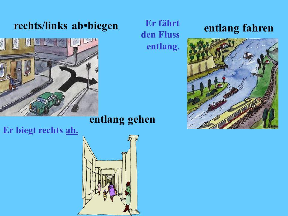 rechts/links ab•biegen