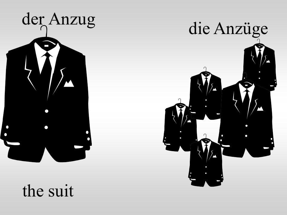 der Anzug die Anzüge the suit