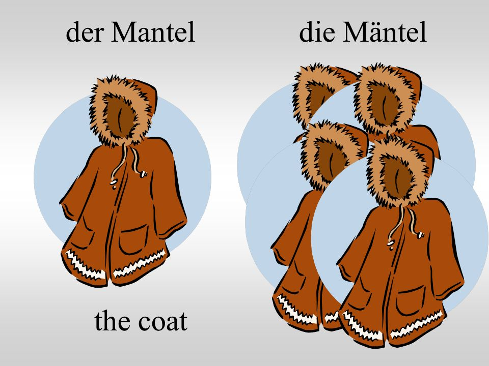 der Mantel die Mäntel the coat