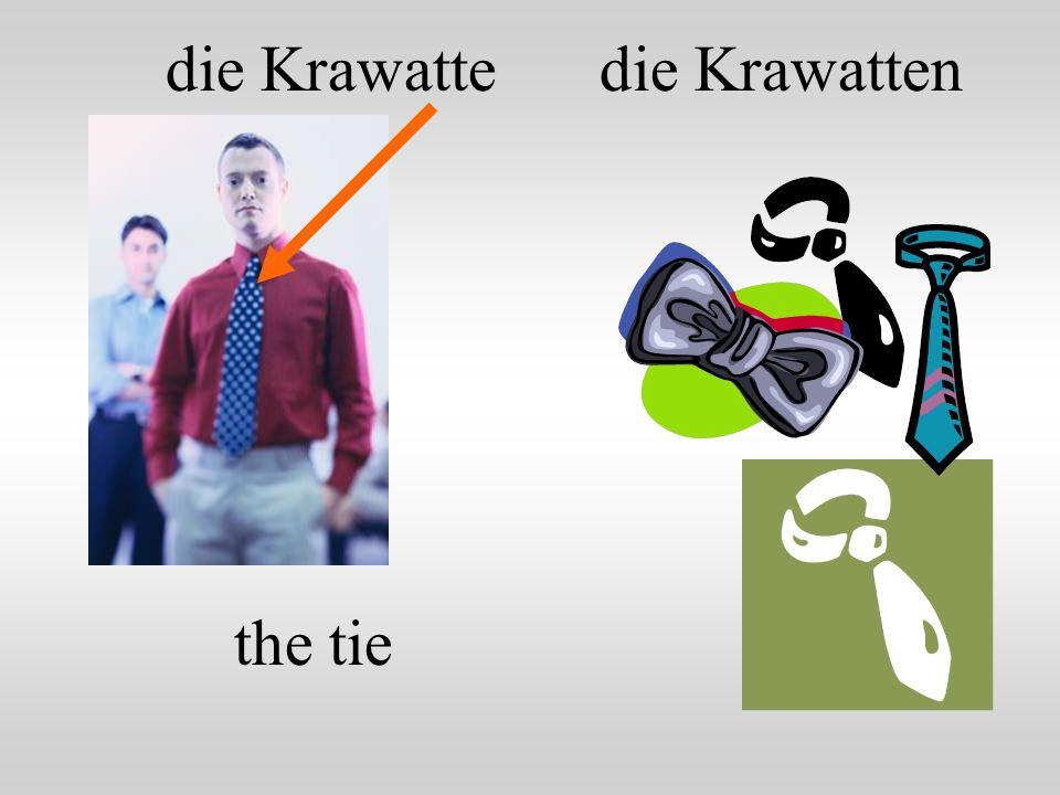 die Krawatte die Krawatten the tie