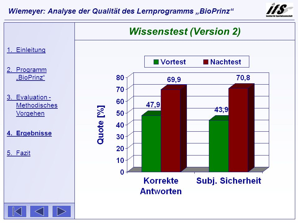Wissenstest (Version 2)