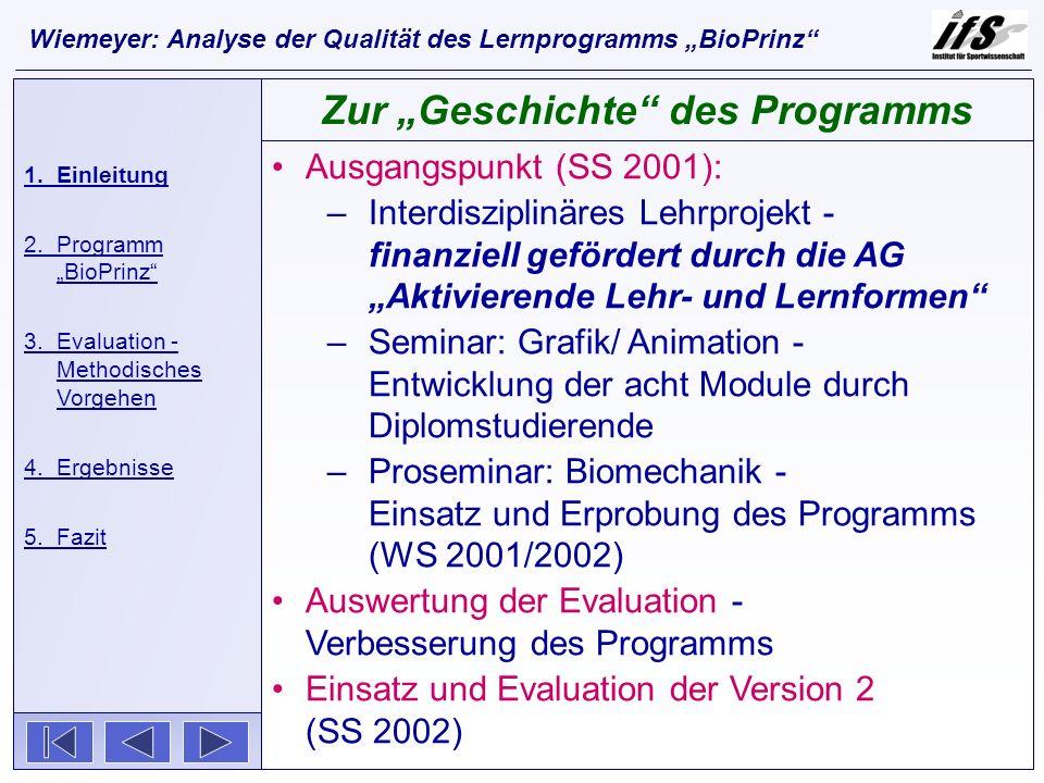 """Zur """"Geschichte des Programms"""