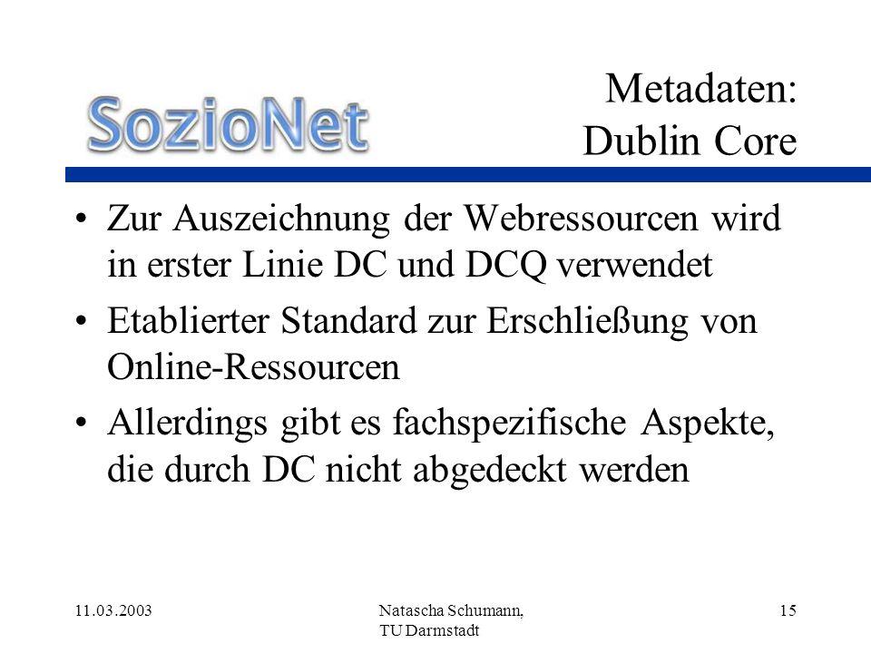 Metadaten: Dublin Core
