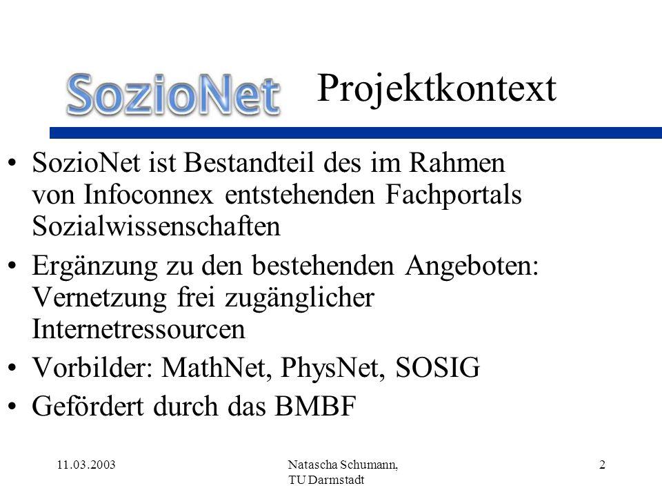 Projektkontext SozioNet ist Bestandteil des im Rahmen von Infoconnex entstehenden Fachportals Sozialwissenschaften.
