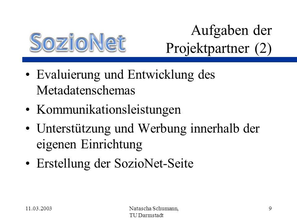 Aufgaben der Projektpartner (2)