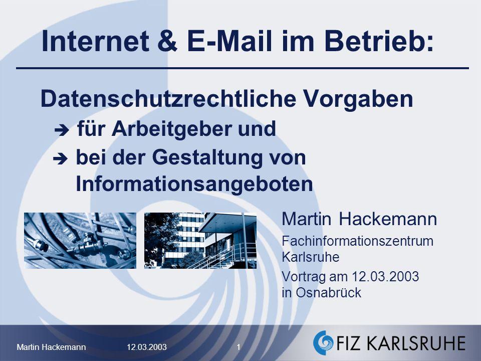 Internet & E-Mail im Betrieb: