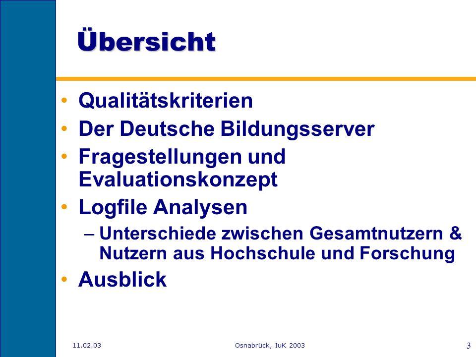Übersicht Qualitätskriterien Der Deutsche Bildungsserver