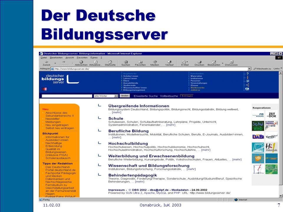 Der Deutsche Bildungsserver