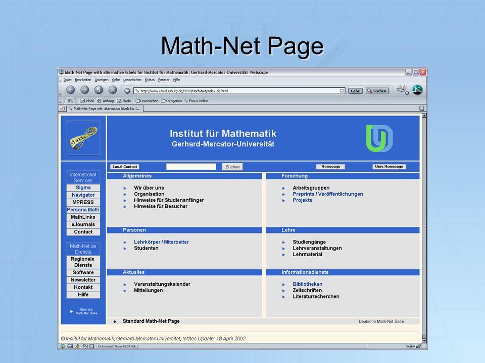 Math-Net Page IuK 2003