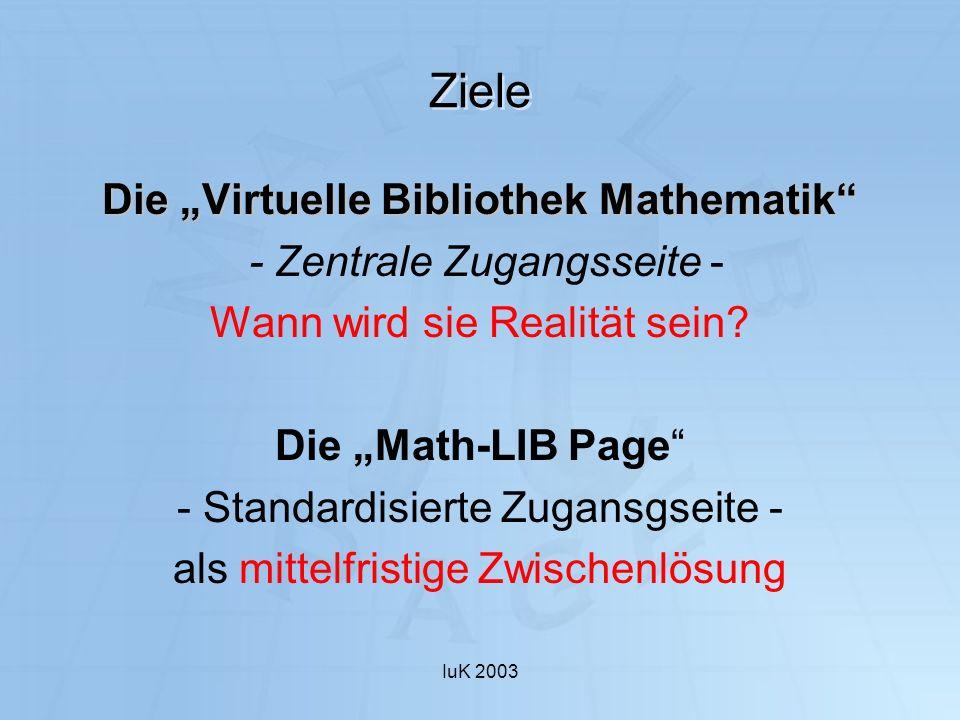 """Die """"Virtuelle Bibliothek Mathematik"""