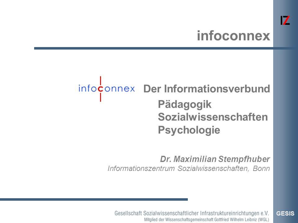 Der Informationsverbund Pädagogik Sozialwissenschaften Psychologie