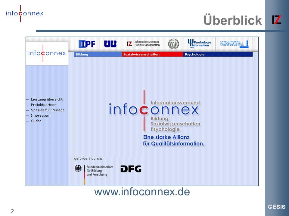 Überblick www.infoconnex.de