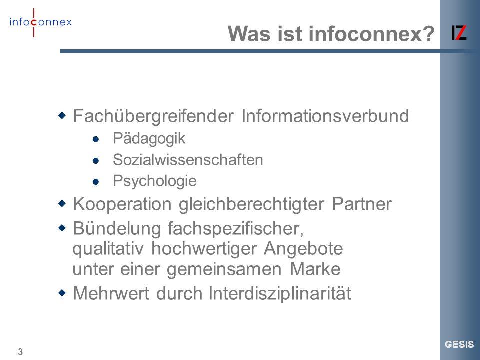 Was ist infoconnex Fachübergreifender Informationsverbund
