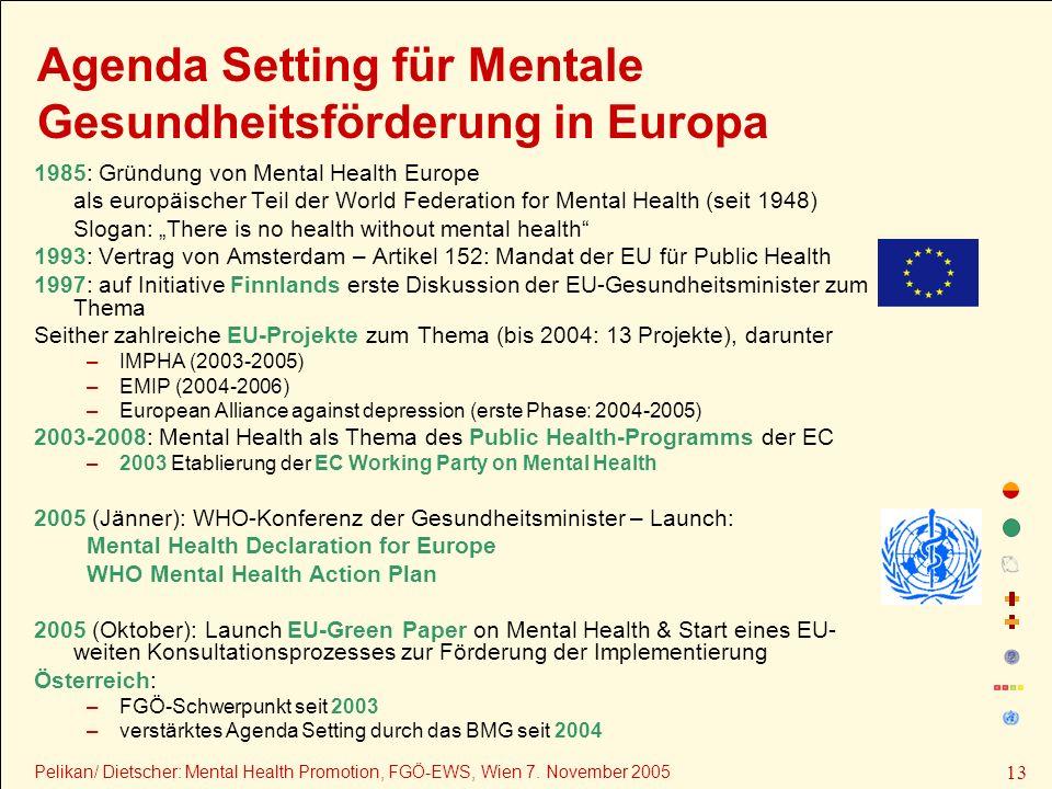Agenda Setting für Mentale Gesundheitsförderung in Europa