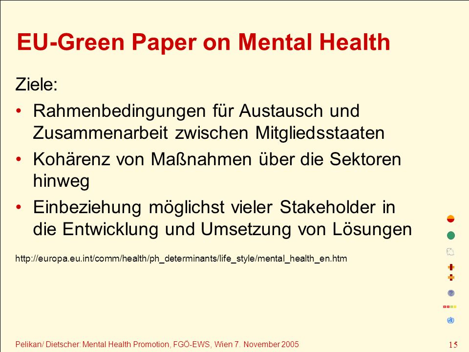 EU-Green Paper on Mental Health