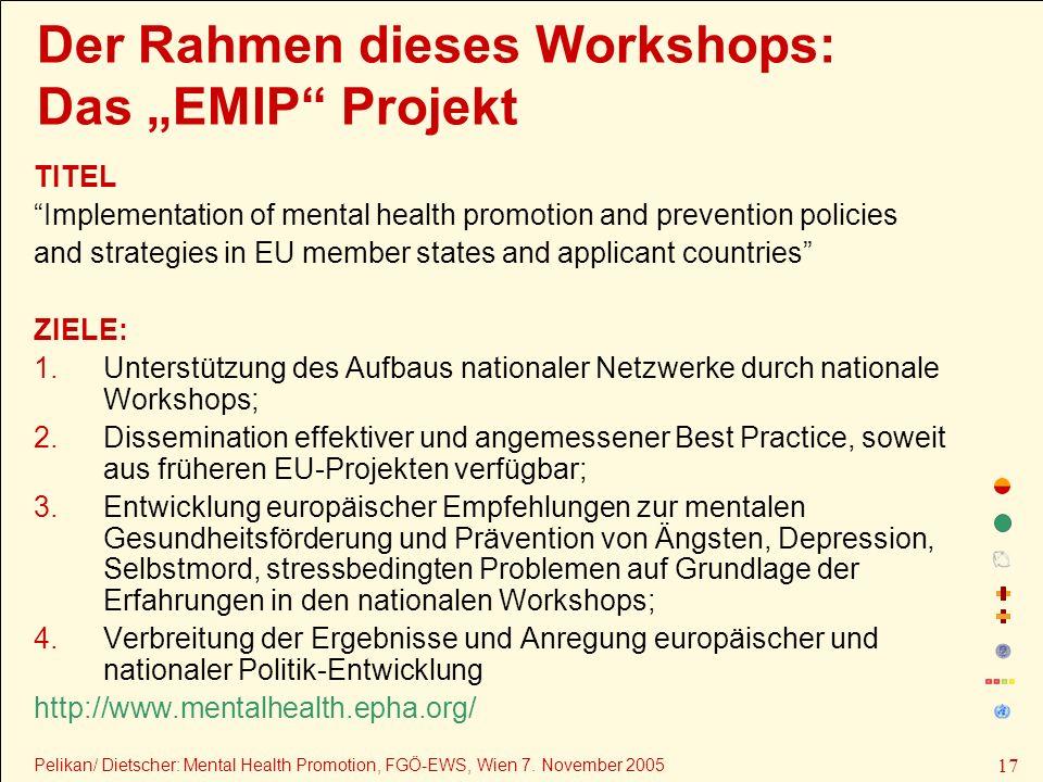 """Der Rahmen dieses Workshops: Das """"EMIP Projekt"""