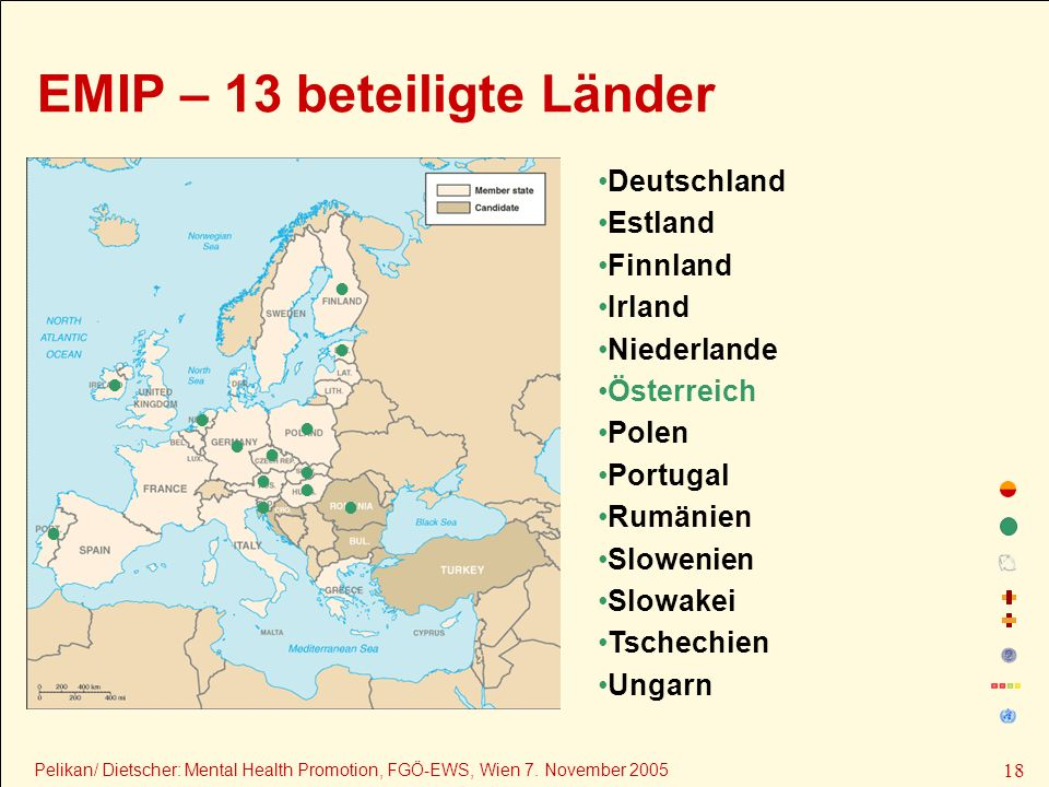 EMIP – 13 beteiligte Länder
