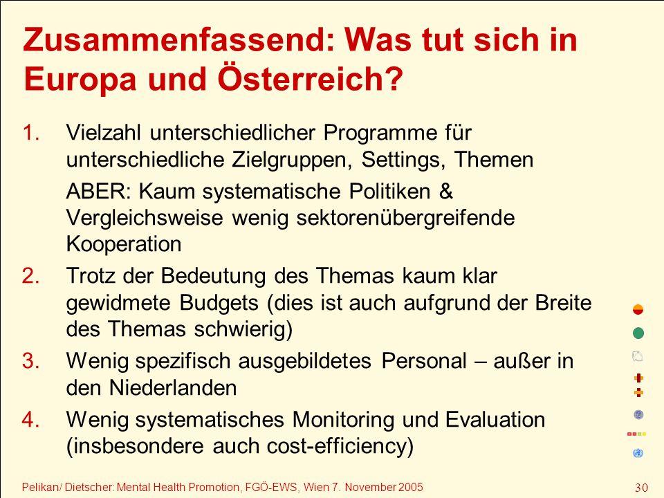 Zusammenfassend: Was tut sich in Europa und Österreich