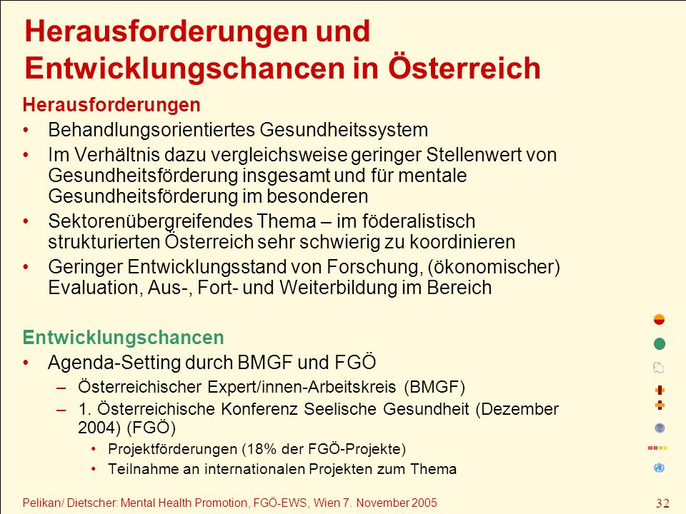Herausforderungen und Entwicklungschancen in Österreich