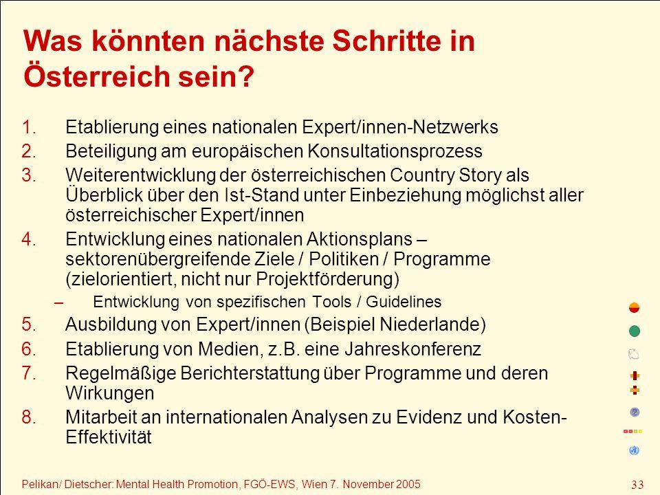Was könnten nächste Schritte in Österreich sein