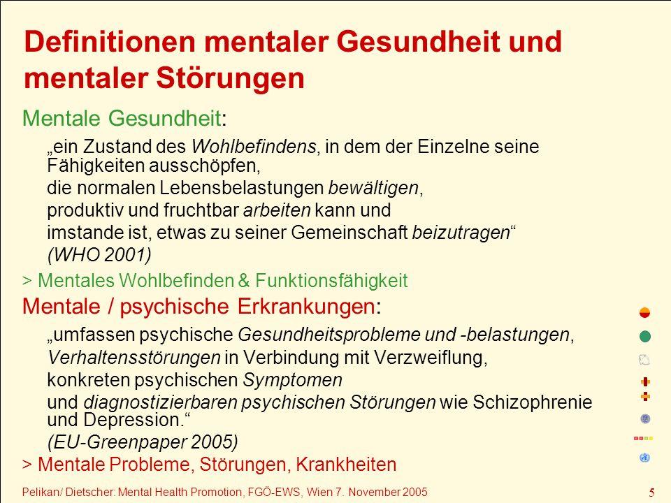 Definitionen mentaler Gesundheit und mentaler Störungen