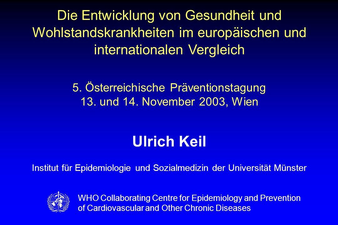 1 Die Entwicklung von Gesundheit und Wohlstandskrankheiten im europäischen und internationalen Vergleich.