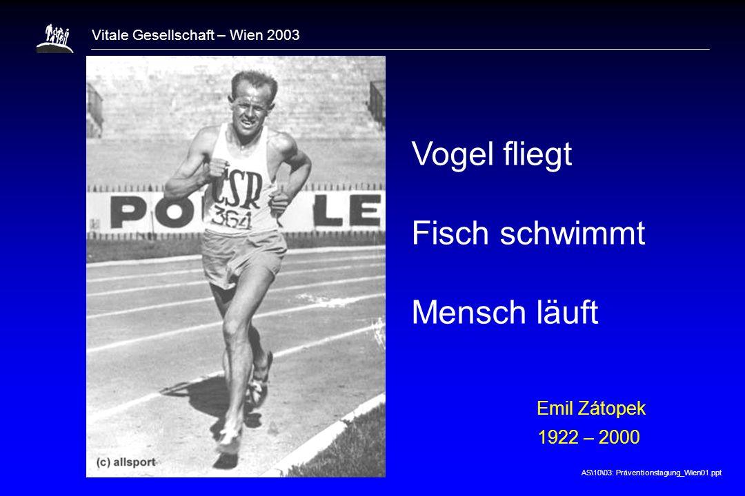 1 Vogel fliegt Fisch schwimmt Mensch läuft Emil Zátopek 1922 – 2000 8