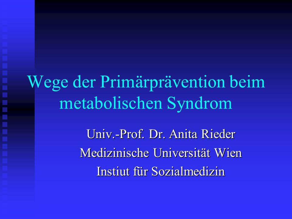 Wege der Primärprävention beim metabolischen Syndrom