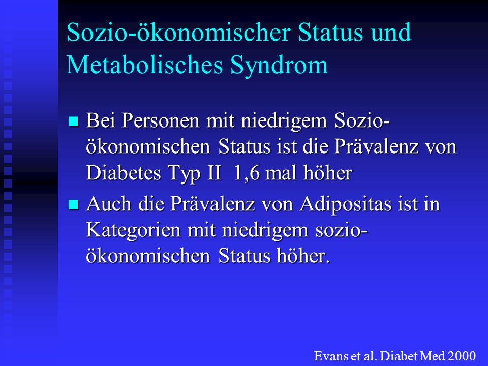 Sozio-ökonomischer Status und Metabolisches Syndrom