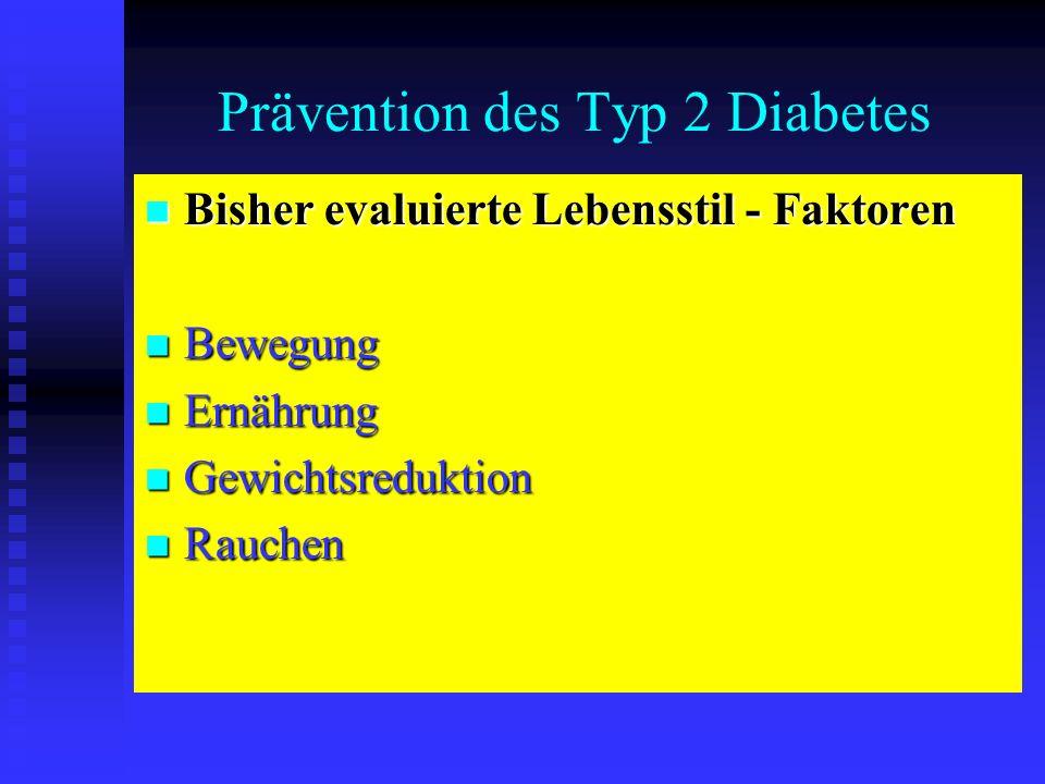 Prävention des Typ 2 Diabetes