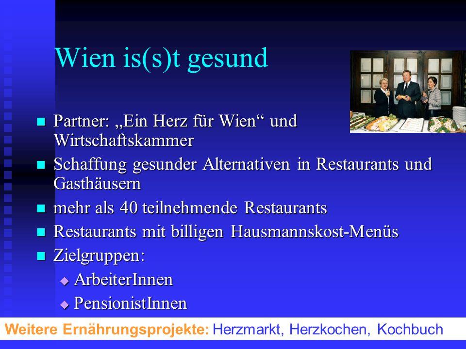 """Wien is(s)t gesund Partner: """"Ein Herz für Wien und Wirtschaftskammer"""