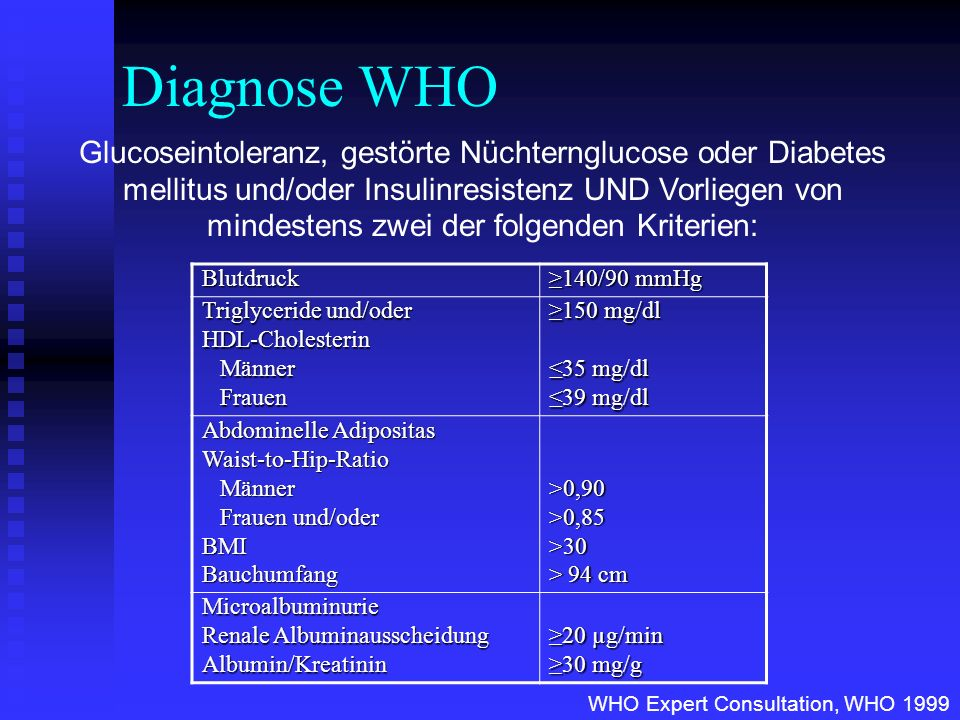 Diagnose WHO