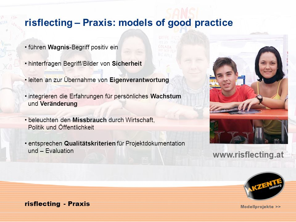 risflecting – Praxis: models of good practice