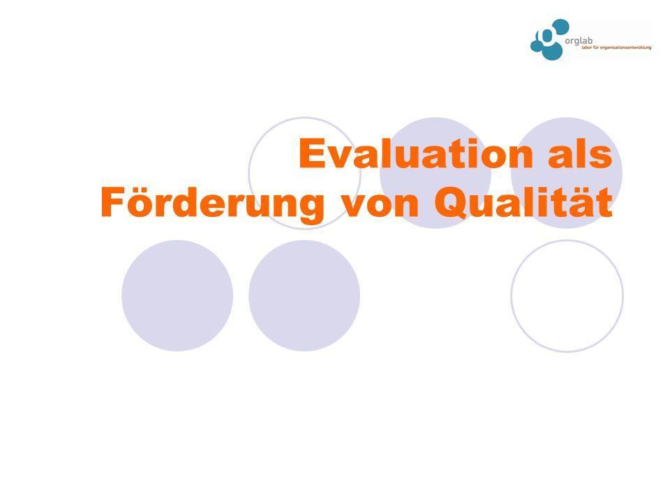 Evaluation als Förderung von Qualität