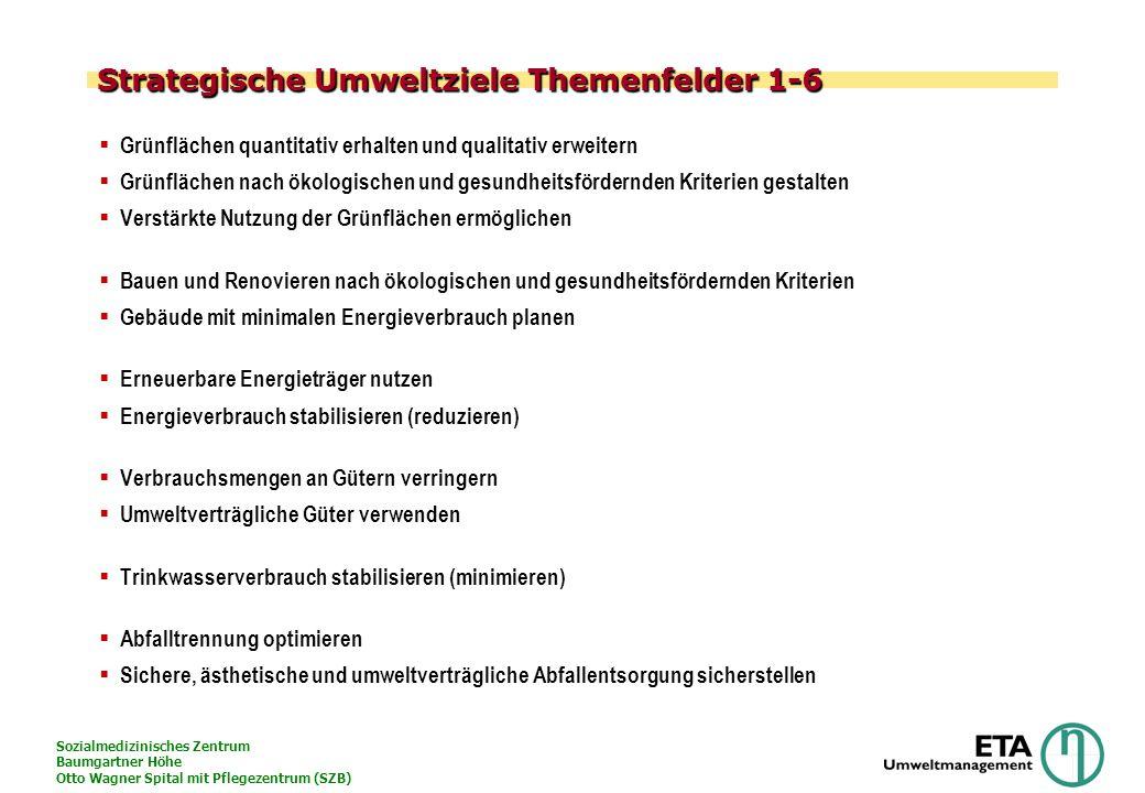 Strategische Umweltziele Themenfelder 1-6