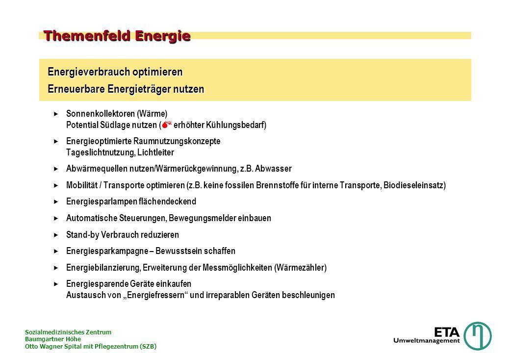 Themenfeld Energie Energieverbrauch optimieren