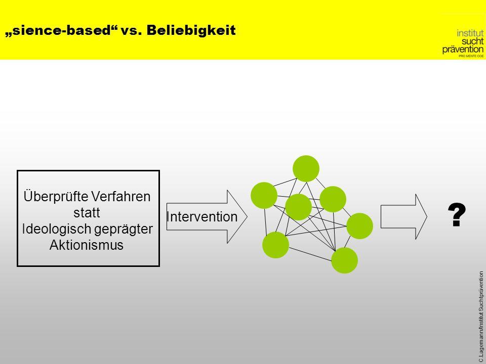 """""""sience-based vs. Beliebigkeit"""