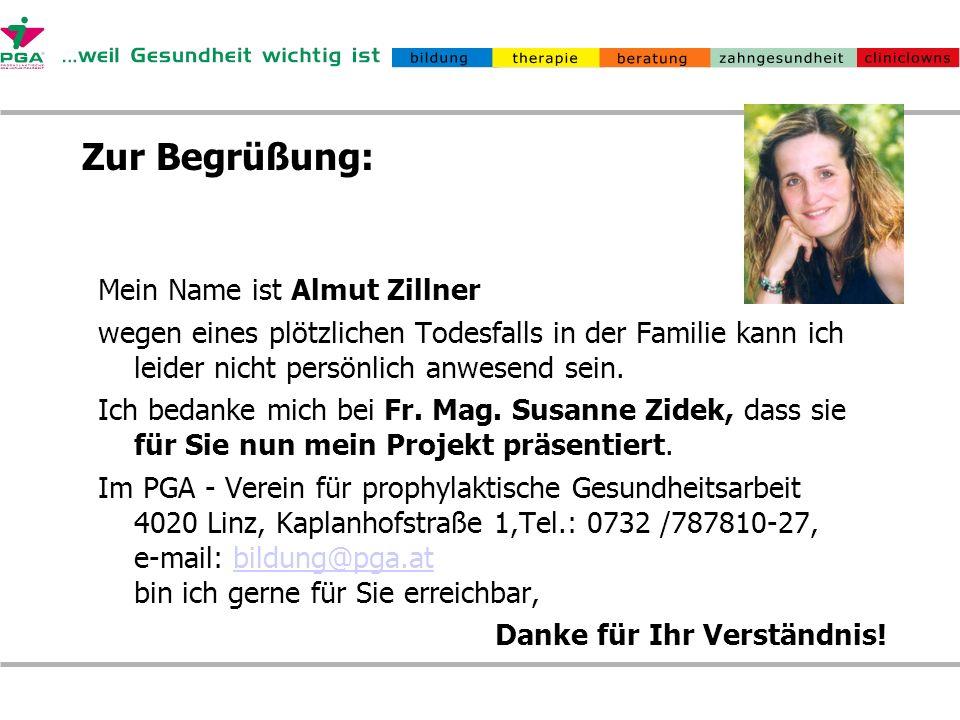 Zur Begrüßung: Mein Name ist Almut Zillner