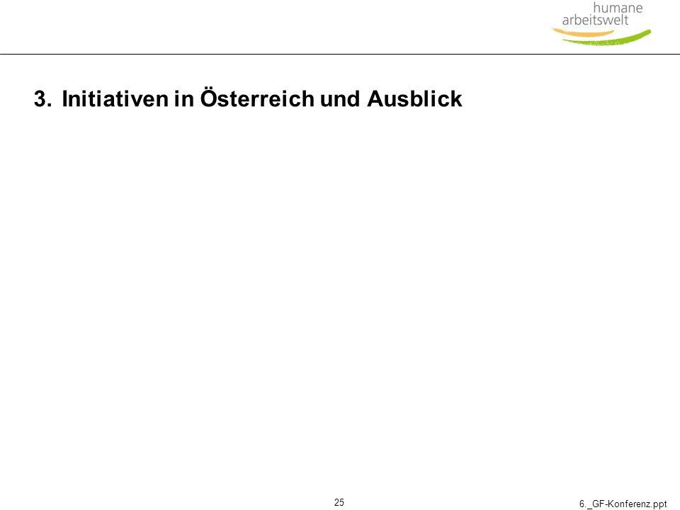 3. Initiativen in Österreich und Ausblick
