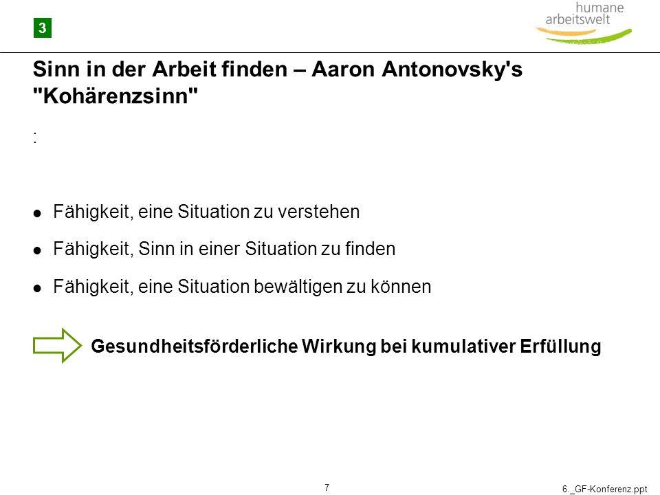 Sinn in der Arbeit finden – Aaron Antonovsky s Kohärenzsinn