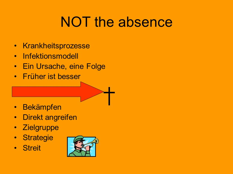 NOT the absence Krankheitsprozesse Infektionsmodell