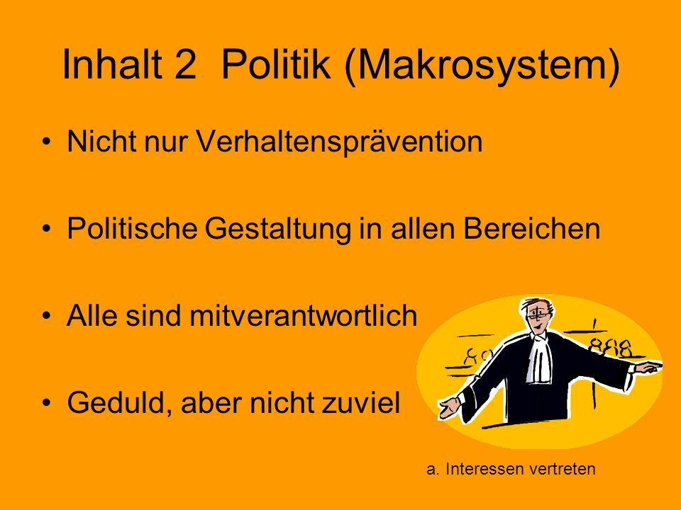 Inhalt 2 Politik (Makrosystem)