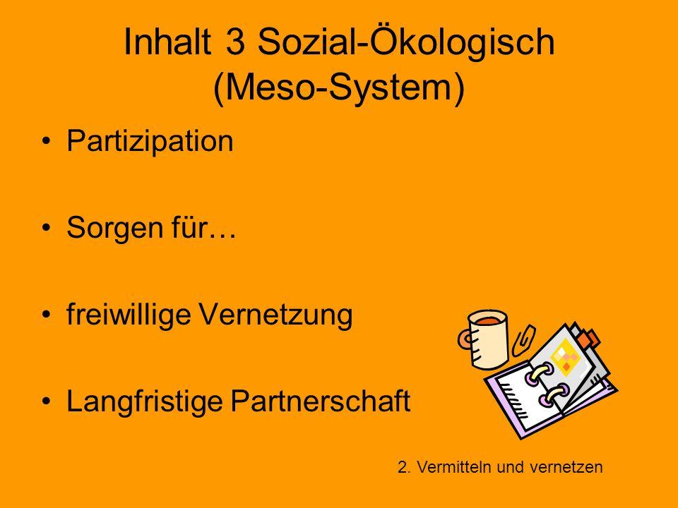 Inhalt 3 Sozial-Ökologisch (Meso-System)