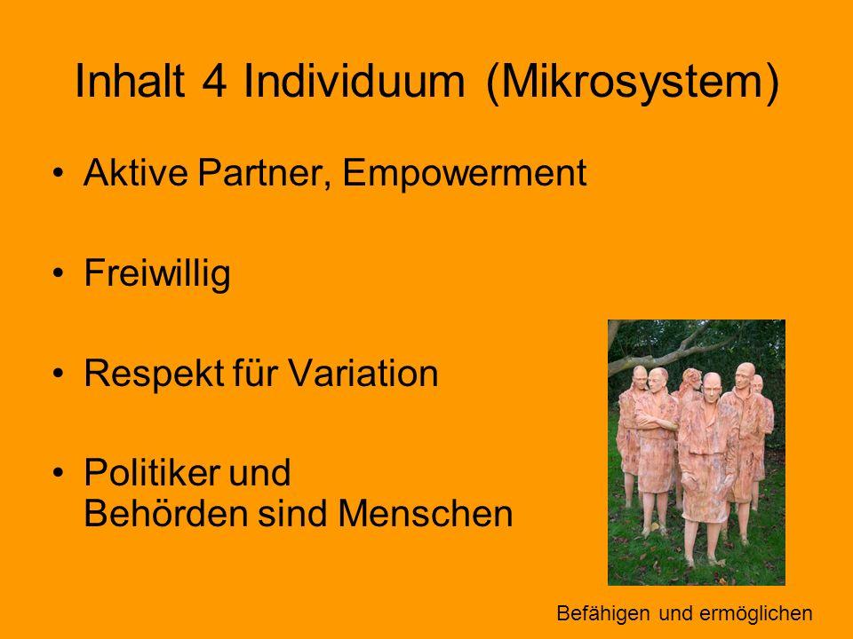 Inhalt 4 Individuum (Mikrosystem)